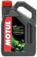 Моторное масло для мотоцикла Motul 5100 4T SAE 10W40 4L MA2 полусинтетика Франция Мотюль Мотюл Мотул Мотуль