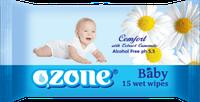 Влажные салфетки Ozone Ромашка 15шт.