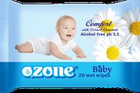 Влажные салфетки Ozone Ромашка 20шт.