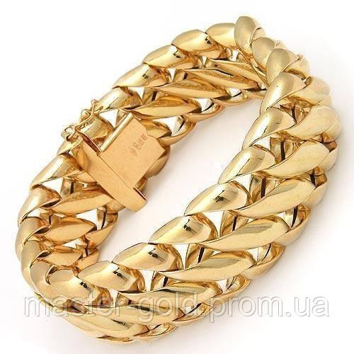 мужской золотой браслет фото