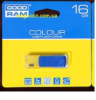 USB флеш накопитель 16Gb Goodram Colour Ukraine blue/yellow