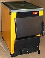 Твердотопливный котел с плитой КОТВ-16П (глубокая топка для дров)
