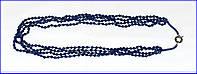 Ожерелье из искусственного сапфира