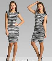 Платье Зебра с погонами
