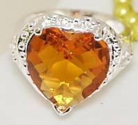 Кольцо хит необычной формы полудрагоценный камень ручной работы  из стерлингового серебра 925 пробы