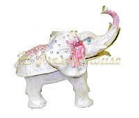 """Шкатулка для украшений """"Слон розовый"""""""