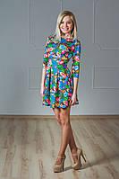 Женское платье цветочный принт