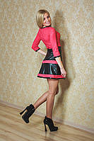 Платье гипюр+эко кожа, фото 1
