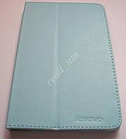 Голубой оригинальный кожаный чехол-книжка Folio Case для планшета Lenovo IdeaTab A3500 A7-50