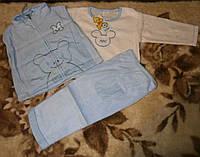 Теплые костюмчики-троечки для мальчиков и девочек на 1-1.5 г
