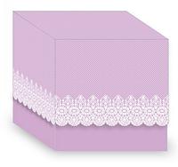 Подарочная упаковка для чашки с принтом (Ажур) фиолетовая