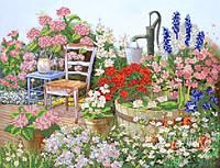 Схема для вышивки бисером Цветы в саду РКП-201