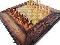 Настольная игра 3 в 1,нарды,шахматы и шашки ручной работы-шпон