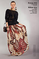 Шифоновая юбка в пол оригинальной расцветки