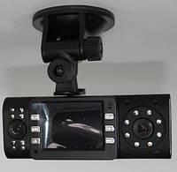 X4000 с двумя объективами в-dash мини-камера видеорегистратор видеорегистратор с ик 8-LED ик ночного видения 1