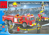 Конструктор Brick 908 Пожарная охрана 607 деталей YNA