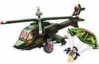 Конструктор Brick 818 Вертолет военный серия Зона боевых действий 275 деталей YNA