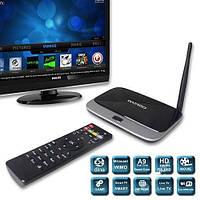 Приставка android tv box ekb311b, 4-хядерный процессор, подключение по av / hdmi, usb, microsd, пульт ду