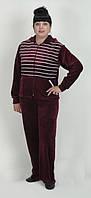 Женский батальный велюровый костюм