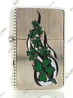 Зажигалка бензиновая «Leaf Clover» (Бронза)