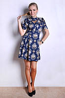 Приталенное платье юбка расклешенная