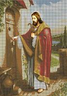 Набір для вишивки бісером Ісус стукає в двері. Арт. КРВ-1ч (чеський бісер)