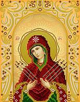 Схема на ткани для вышивания бисером Семистрельная Пресвятая Богородица. А-строчка