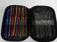 Набор крючков для вязания в косметичке