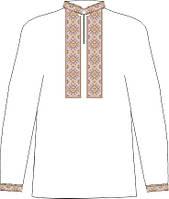 СВЮБ-3. Заготовка  Дитяча сорочка для хлопчика лляна біла.