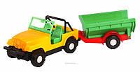 Игрушечная машинка авто-джип с прицепом 39007