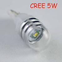 Светодиодная автомобильная лампа SLP L в габарит или подсветку салона автомобиля под цоколь Т10 (W5W) Cree 5W