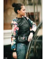 Куртка Шанель в цветах рукава
