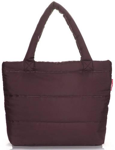 Дутая женская сумка POOLPARTY pp4-brown коричневая