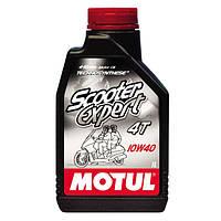 Моторное масло для скутера Motul Scooter Expert 4T SAE 10W40 1L MA2 полусинтетика Франция Мотюль Мотюл Мотул