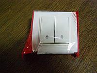 Выключатель двойной проходной EL-BI, ZENA Белый