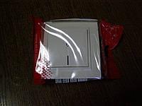 Выключатель одинарный проходной с подсветкой  EL-BI, ZENA белый