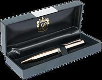 Ручка шариковая Luxury с кристаллами золото в подарочном футляре