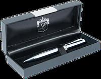Ручка шариковая Luxury с кристаллами хром в подарочном футляре