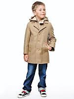 Детское пальто для мальчика №542 бежевый