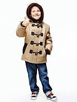 Детское пальто для мальчика №543 бежевый