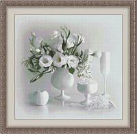Набор для вышивки крестом Белый натюрморт Ю 0104