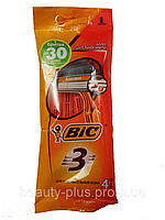 BIC® мужские одноразовые станки BIC® 3 Sensitive 1уп/4шт