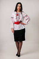 Традиционная украинская вышиванка с калиной , фото 1