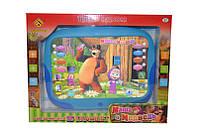 """Детский интерактивный планшет """"Маша и Медведь"""" DB 6883 G2. Сказки и английский язык"""