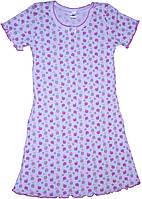 Ночная сорочка в яблочки, клубнички, рост 110/116см, Фламинго
