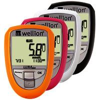 Глюкометр Wellion Luna Duo - Приборы для измерения глюкозы и холестерина!!Акция!! +тест-полоски №50 шт. (глюкоза)+тест-полоски №5 (холестерин)