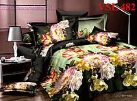 Постельное белье, евро комплект, сатин люкс Вилюта (Viluta)  VSL 482