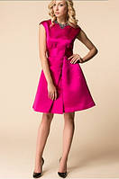 Женское котейльное атласное платье