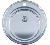 Мойка для кухни врезная круг 510 х 165/180 IMPERIAL 0,8 глянцевая