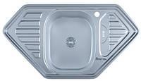 Мойка для кухни врезная угловая трапеция 950 х 500 x 175/180 IMPERIAL 0,8 матовая